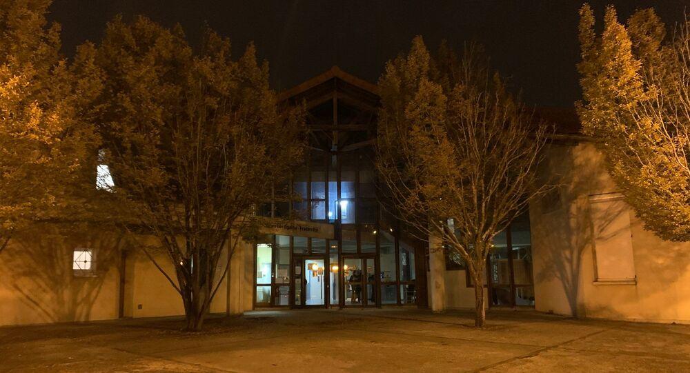 Le collège Bois d'Aulne de Conflans-Sainte-Honorine (Yvelines), où enseignait le professeur d'histoire décapité dans l'après-midi, le 16 octobre 2020
