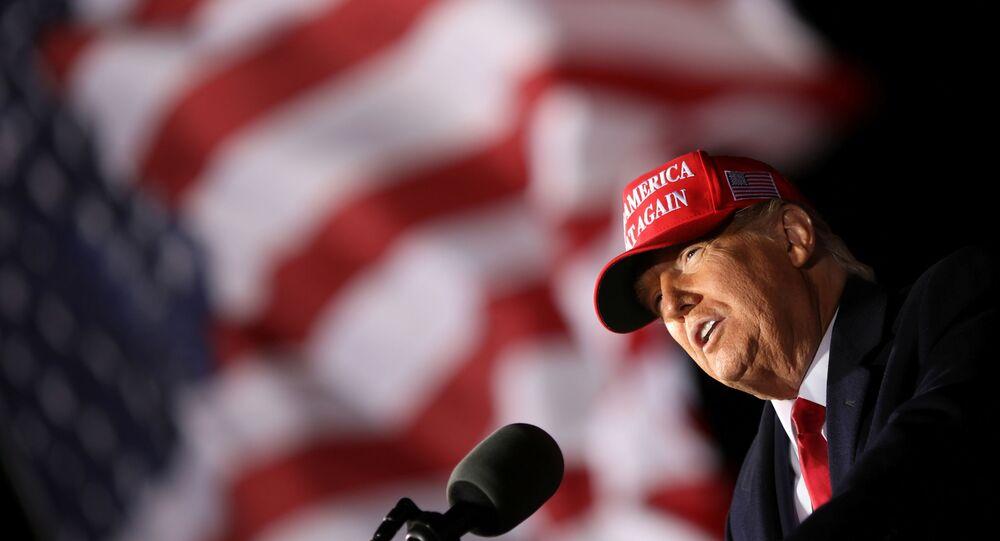 Donald Trump lors d'un meeting de campagne à Janesville, dans le Wisconsin, 17 octobre 2020