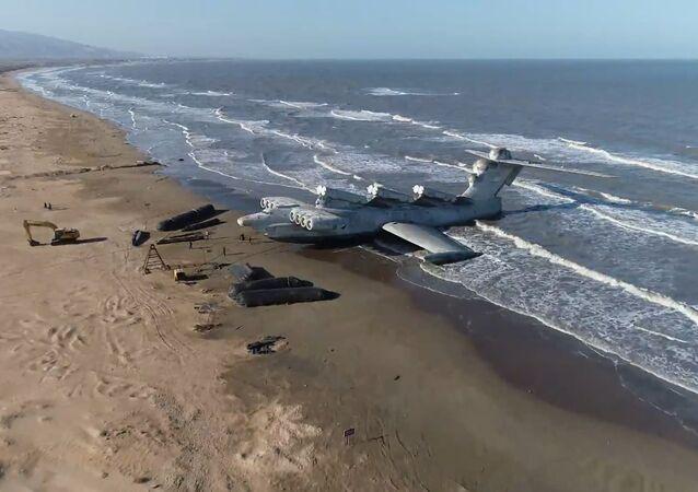 Le Lun, le «destructeur de porte-avions», vu du ciel par un drone