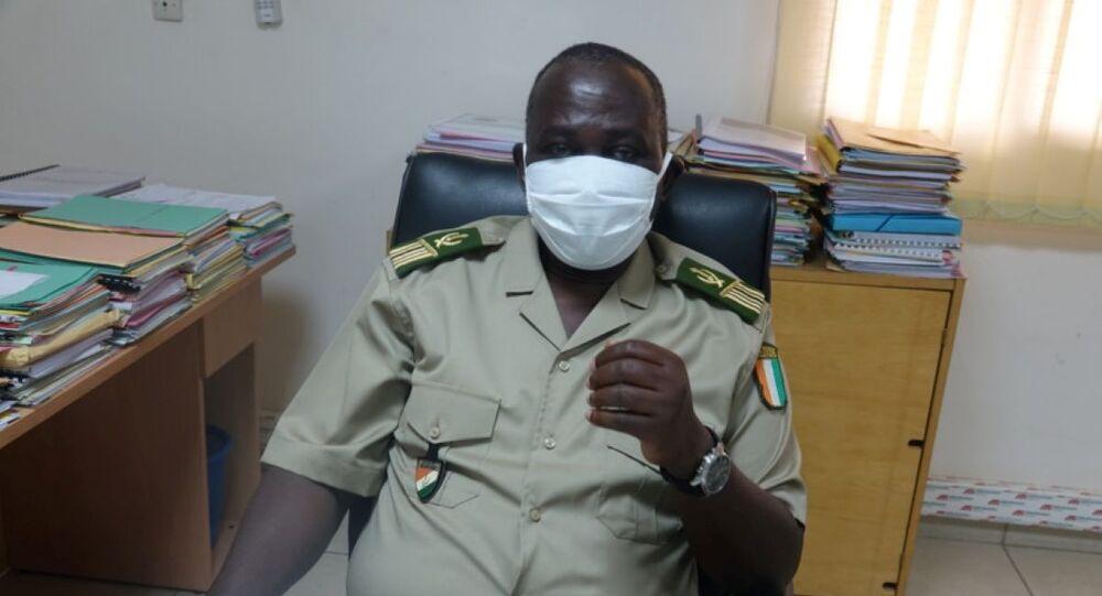 Le directeur régional des Douanes du Sud-Comoé, le colonel Fatiga Mohamed