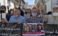 Une manifestation à Alger pour la libération du journaliste Khaled Drareni et d'autres détenus d'opinion