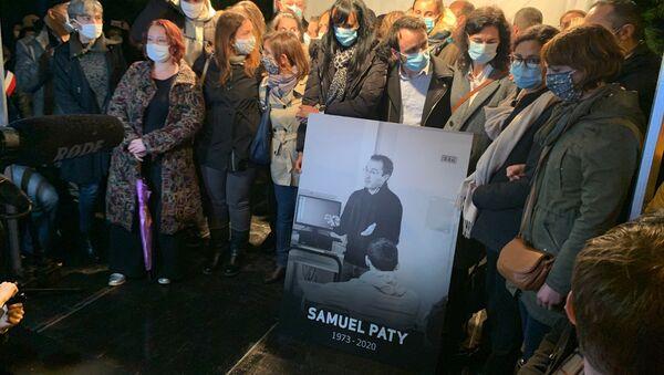 Marche blanche en hommage au professeur Samuel Paty à Conflan - Sputnik France