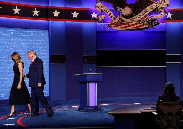 Donald et Melania Trump, le 22 octobre 2020