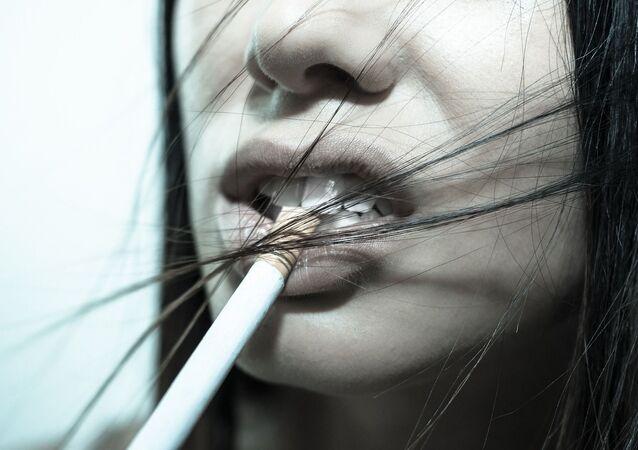 Bouche d'une femme
