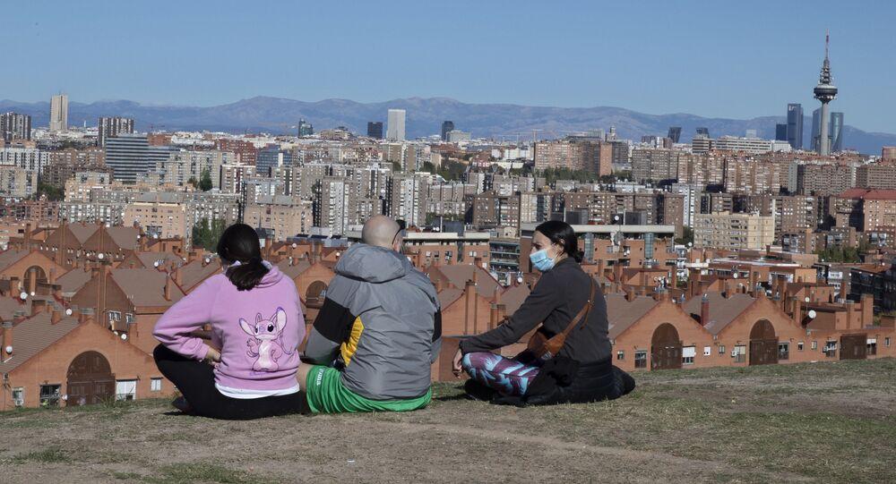 Vue panoramique de Madrid