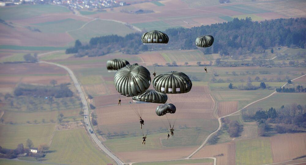 Des parachutistes américains lors d'un exercice en Allemagne (archive photo)
