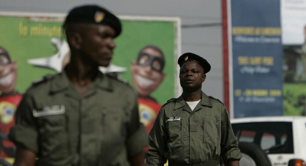 Des policiers au Cameroun