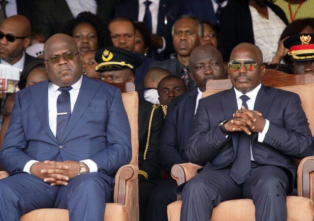 L'actuel Président congolais Félix Tshisekedi et l'ancien Président Joseph Kabila
