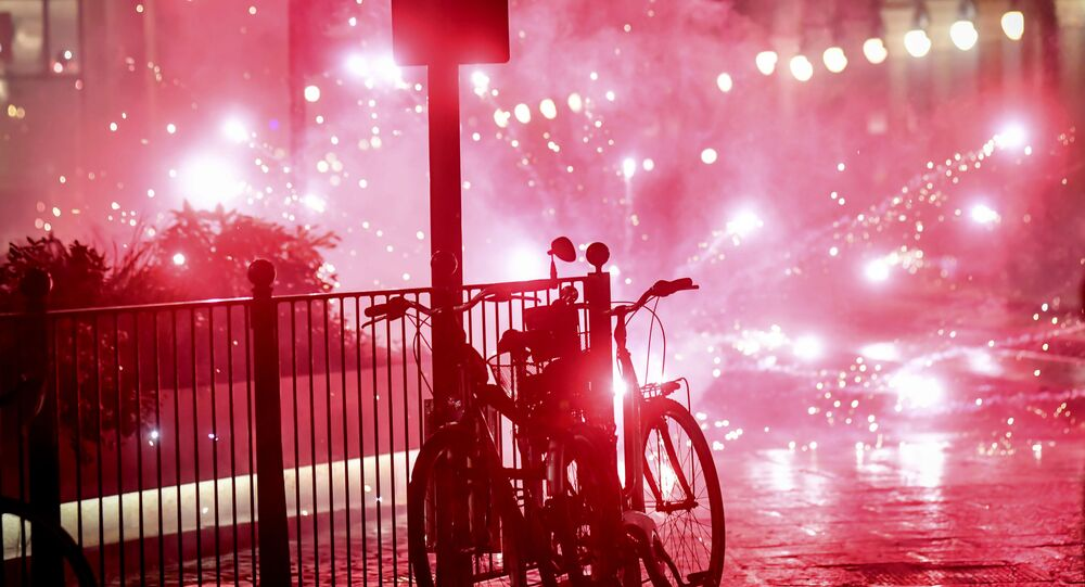 Manifestation en Italie contre le durcissement des mesures