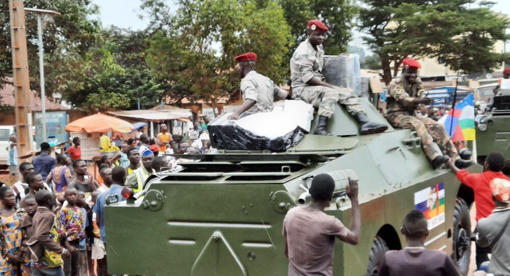 Une parade militaire à Bangui avec la participation de blindés russes, 15 Octobre 2020
