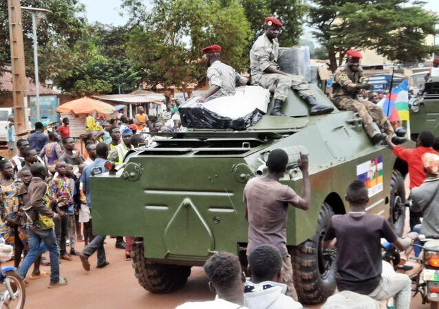 Une parade militaire à Bangui avec la participation de chars russes, 15 Octobre 2020
