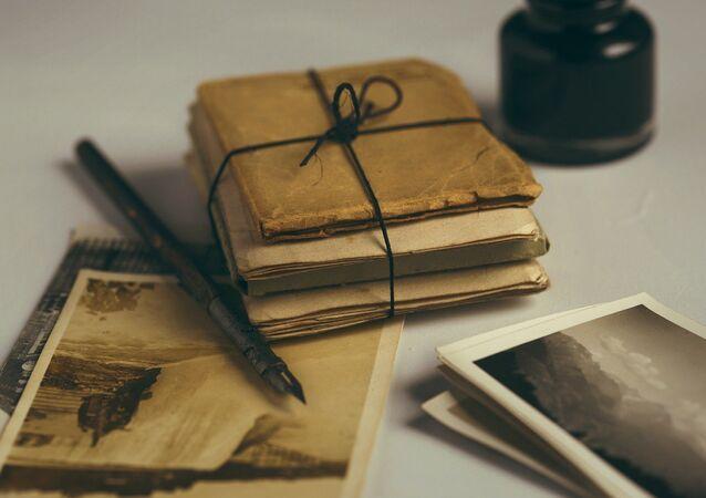 Vieilles lettres (image d'illustration)