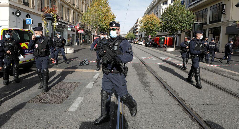 Nice après l'attaque au couteau, le 29 octobre 2020