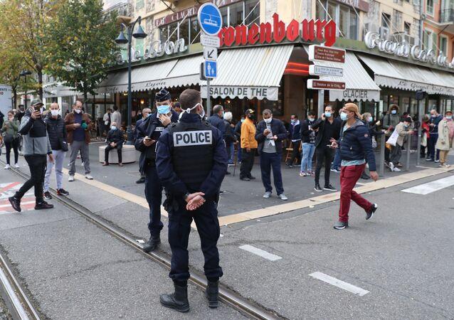 Situation sur le lieu de l'attaque de Nice, le 29 octobre