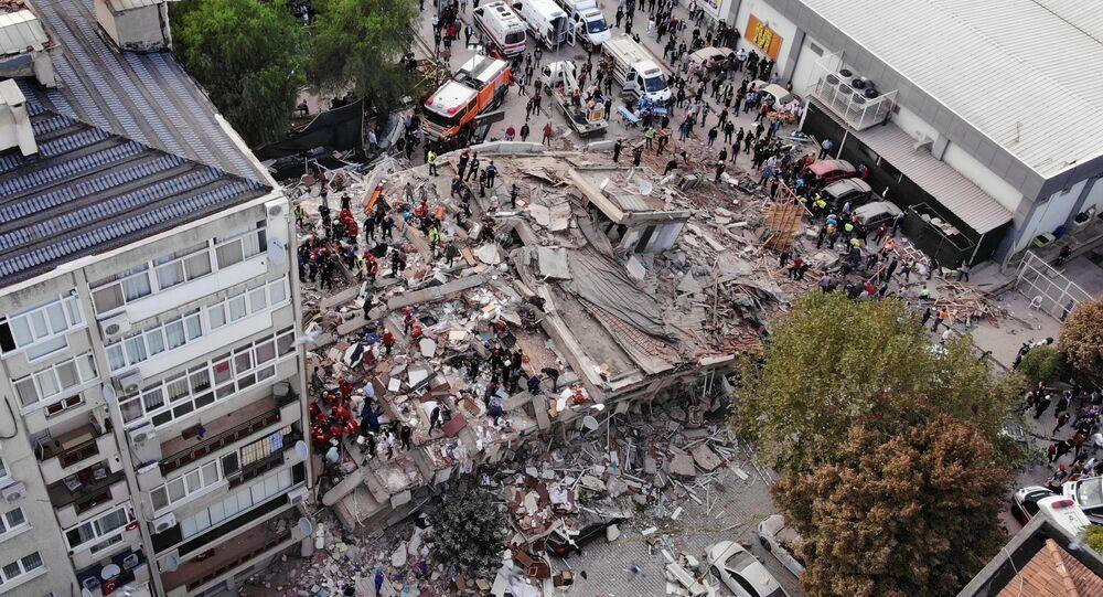 La ville turque d'Izmir a été secouée le 30 octobre par un séisme de magnitude 6,9