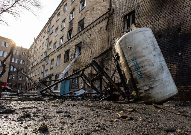 L'hôpital N°2 de Tcheliabinsk après une explosion, 31 octobre 2020