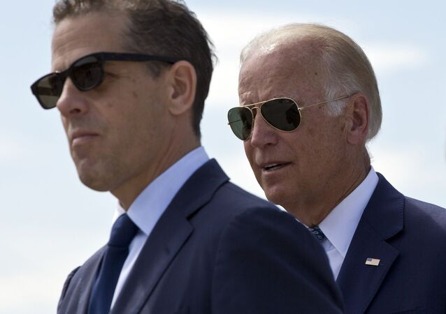 Vice President Joe Biden et son fils Hunter Biden