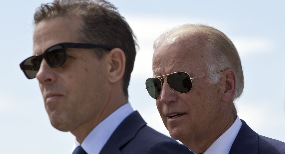 Vice President Joe Biden et son fils Hunter Biden