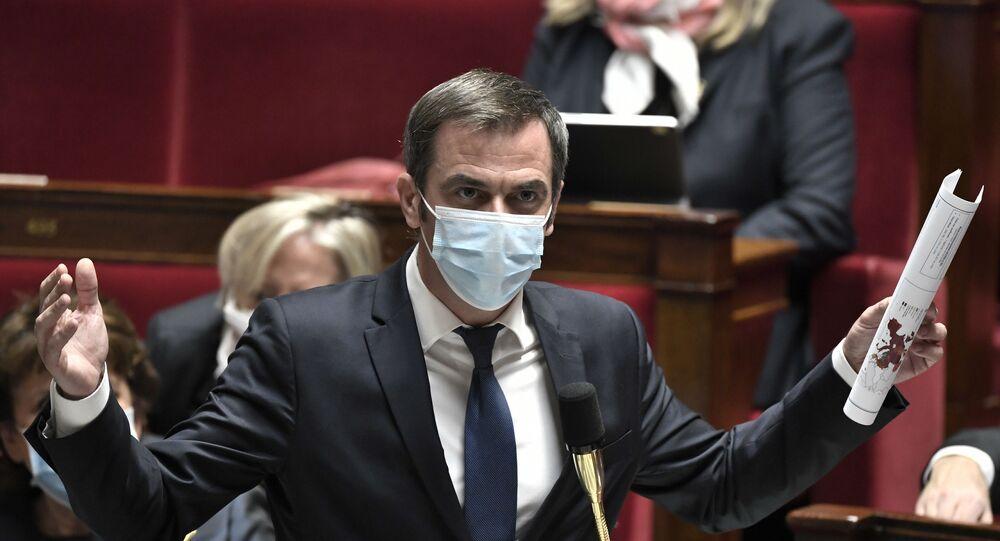 Olivier Véran, à l'Assemblée nationale, le 3 novembre 2020