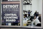 le décompte des votes par correspondance à Detroit dans le Michigan