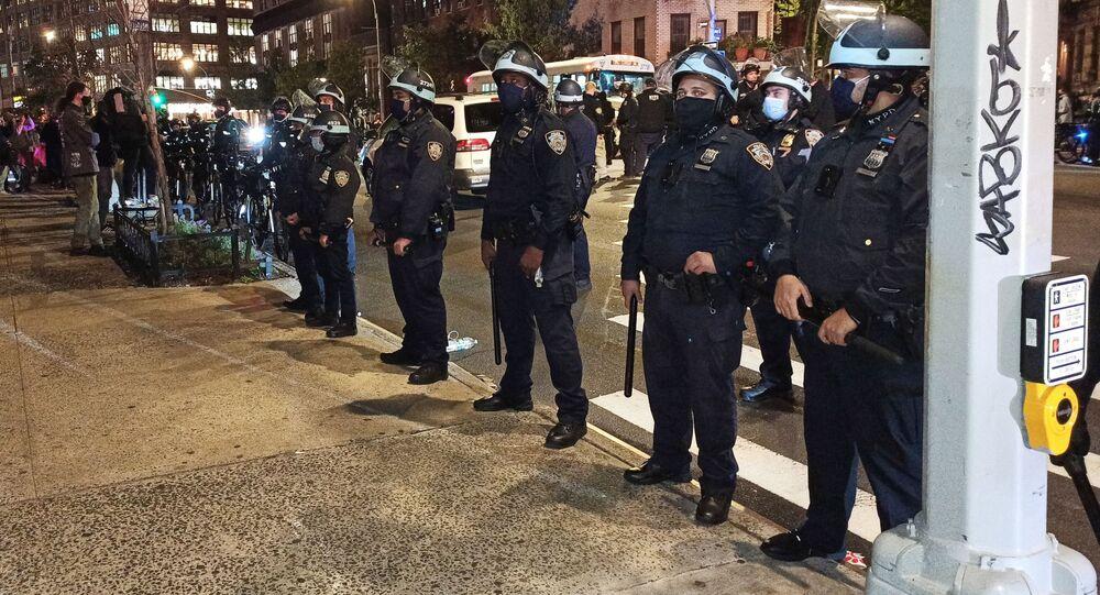 Des manifestations à Manhattan (image d'illustration)