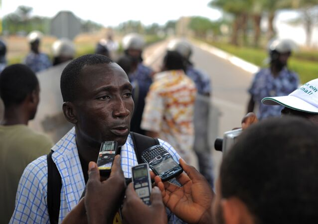 Ferdinand Ayite, le directeur de publication du journal togolais L'alternative
