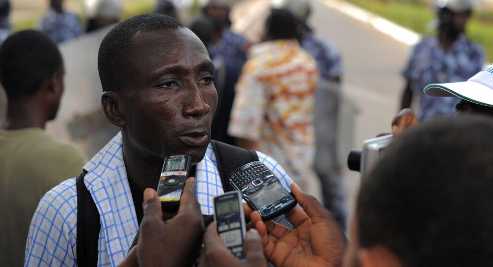 Ferdinand Ayite, le directeur de publication du journal togolais L'alternative