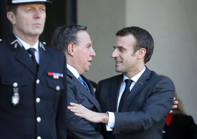 François Legault et Emmanuel Macron