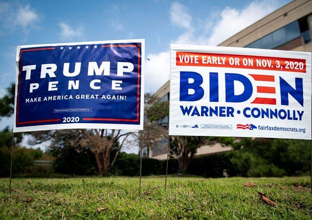 Des panneaux électoraux à Fairfax, en Virginie, le 18 septembre 2020