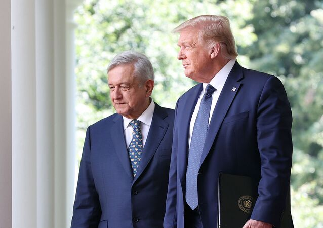 Donald Trump et Andrés Manuel López Obrador, Washington, juillet 2020 (image d'illustration)