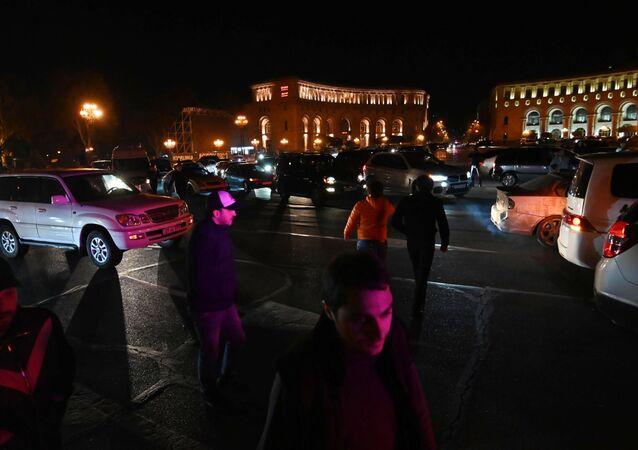 Une manifestation de protestation à Erevan