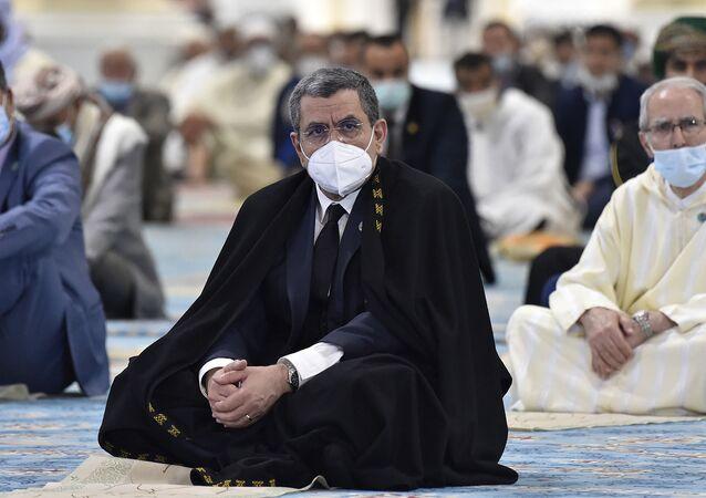 Le Premier ministre algérien le jour de l'inauguration de la Grande Mosquée d'Alger