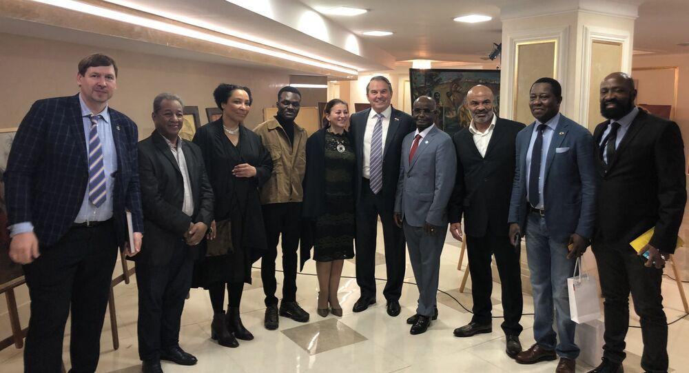 Igor Morozov, senateur russe, à l'ouverture d'exposition Russie-Afrique