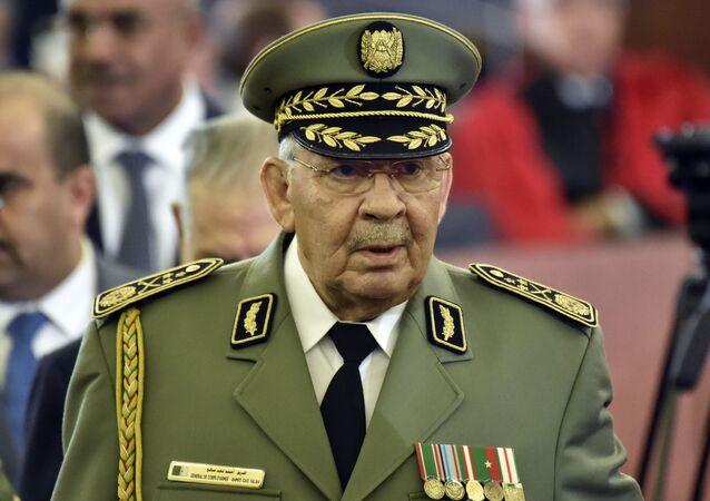 Le lieutenant général Ahmed Gaïd Salah, lors d'une cérémonie officielle à Alger le 19 décembre 2019
