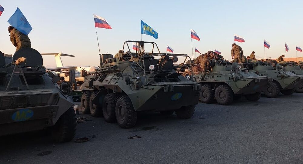Des forces russes dans le Haut-Karabakh