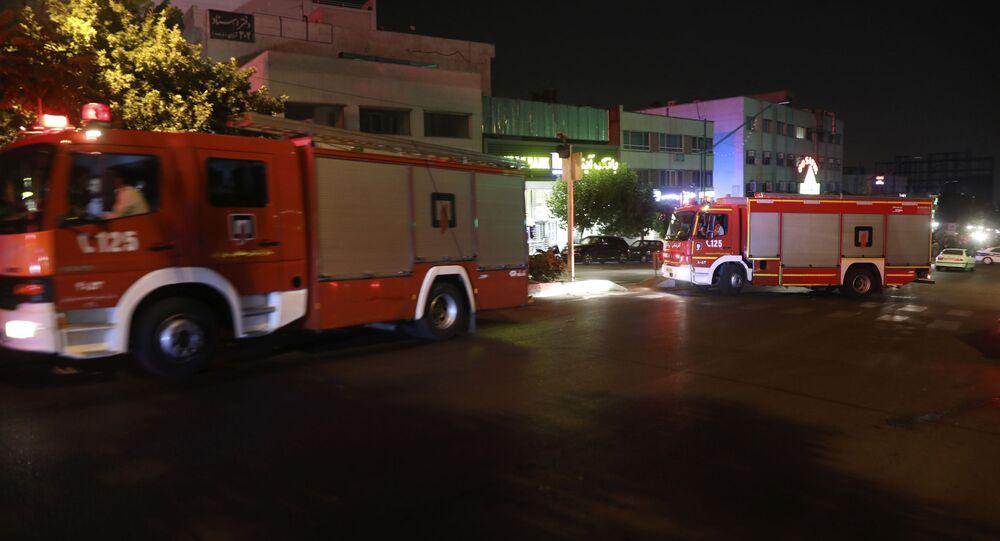Pompiers en Iran