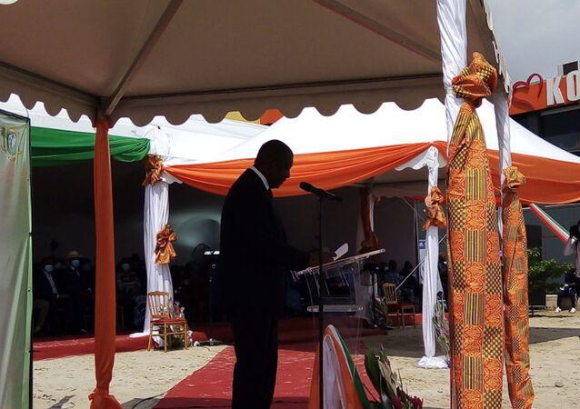 Hamed Bakayoko, le Premier ministre ivoirien, lors de la journée nationale de la paix 2020 à Koumassi
