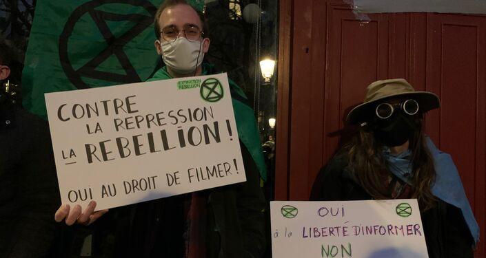 Manifestation contre la loi de sécurité globale à Paris le 17 novembre