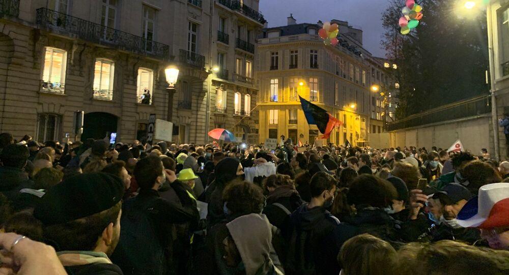 Manifestation contre la loi de sécurité globale à Paris, le 17 novembre