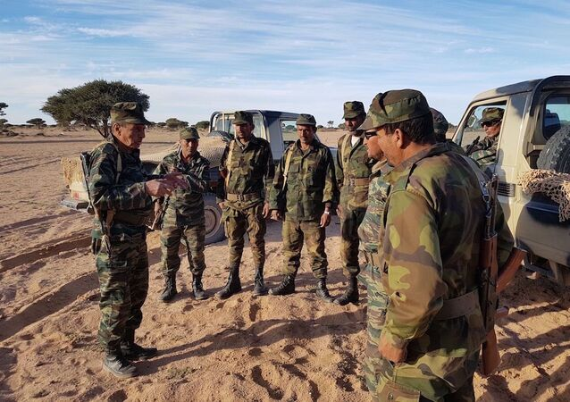Unité de l'armée sahraouie dans la région de Mhiriz, 2018