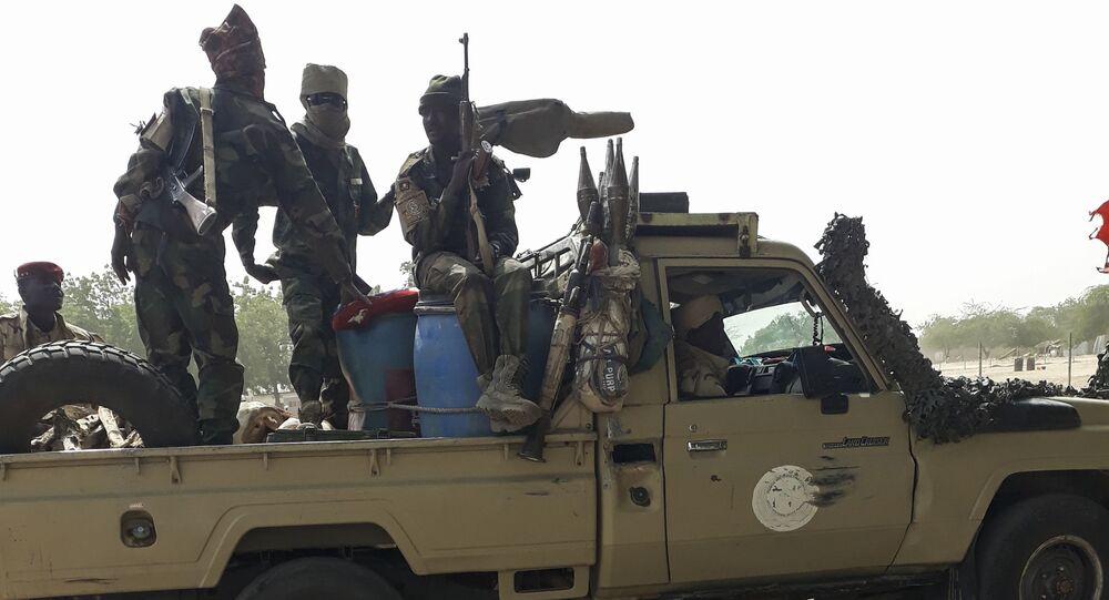 Les soldats de l'armée tchadienne après une mission d'un moins pour combattre Boko Haram, javier 2020