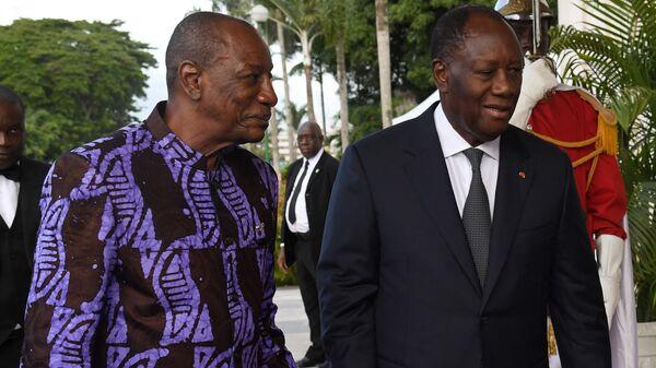 Les Présidents guinéen Alpha Condé et ivoirien Alassane Ouattara - Sputnik France