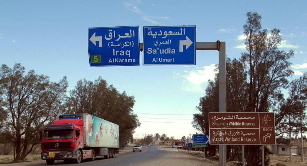 Signes routiers «Irak» et «Arabie saoudite»