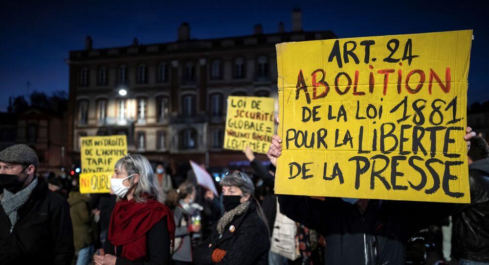 Manifestation contre la loi sécurité globale, le 17 novembre à Paris