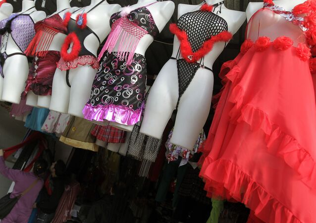La devanture d'une boutique de lingerie