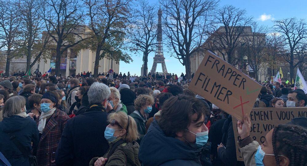 Manifestation contre la loi «sécurité globale» à Paris, 21 novembre 2020