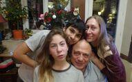 Hélène Texier avec sa famille