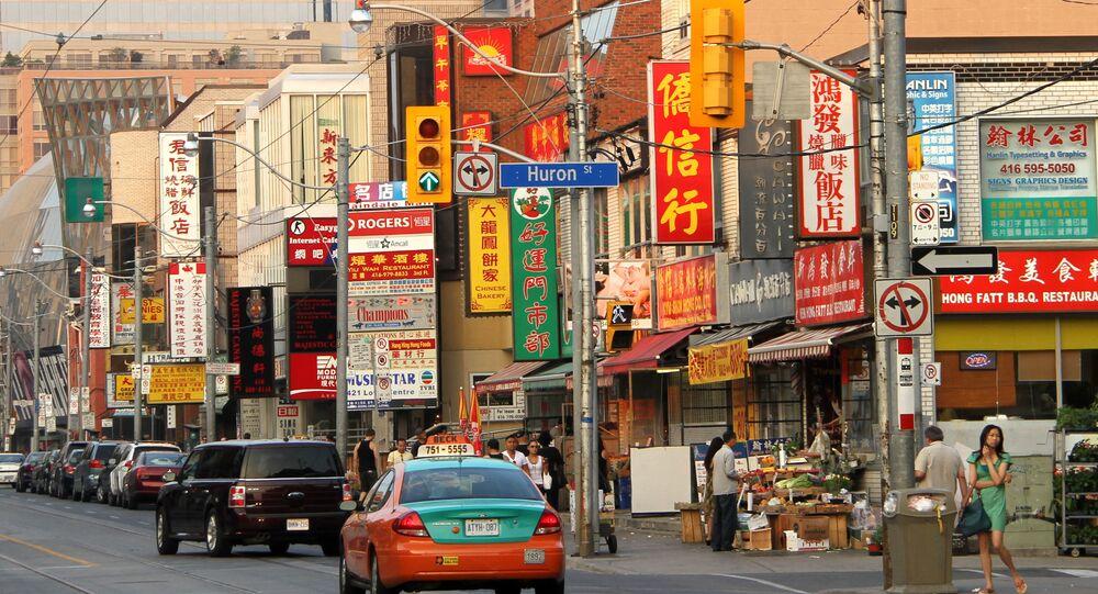 Quartier de Chinatown à Toronto (Canada), juillet 2010