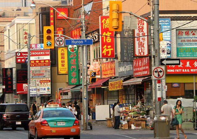 Quartier de Chinatown à Toronto (Canada), juillet 2010 (image d'illustration)