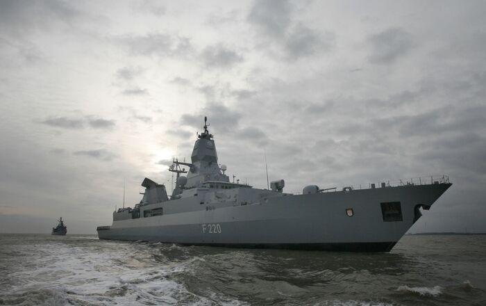 Le navire de guerre allemand Hamburg, photo d'archives